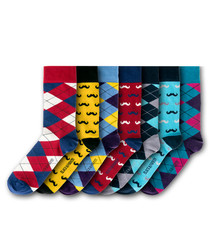 7pc Worcestershire cotton blend socks