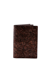 Brown paper & leather wallet