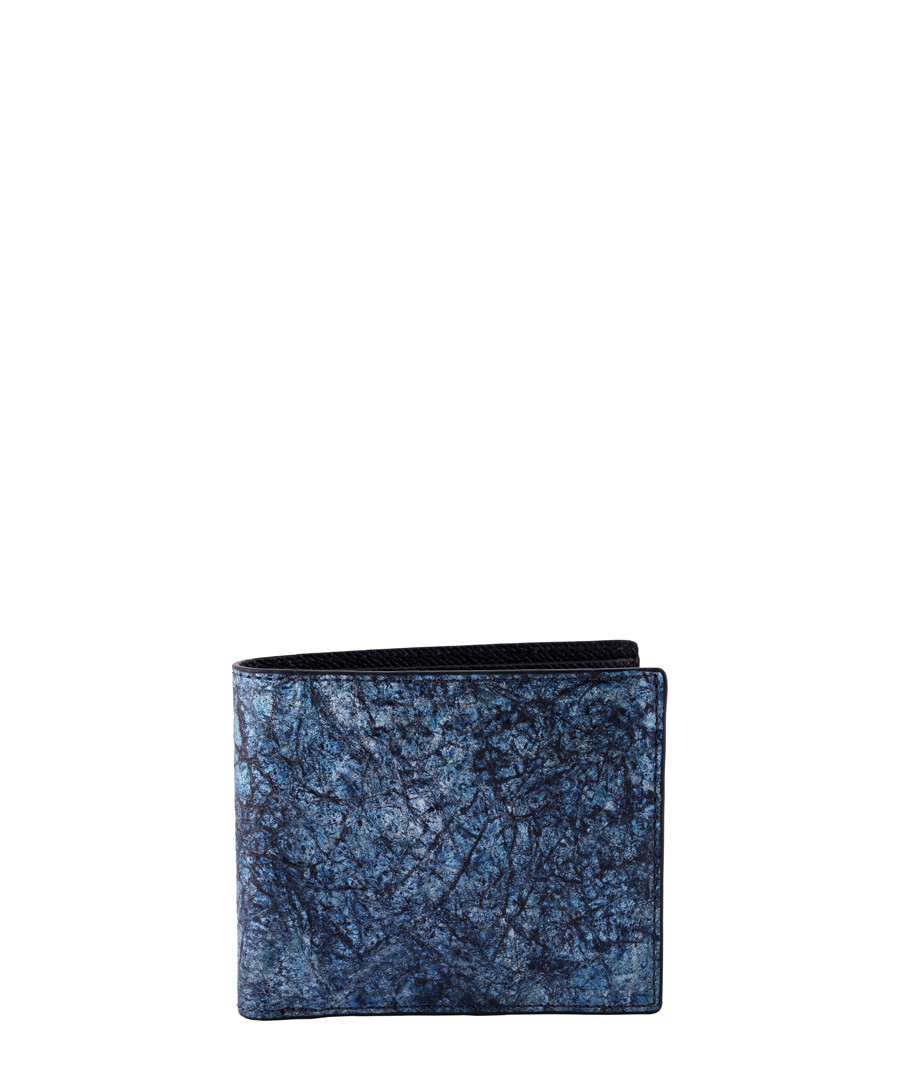 Blue paper & leather cardholder Sale - Tateossian London
