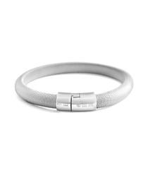 Rhodium cobra classic bracelet