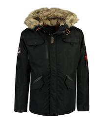 Blind River black classic parka coat