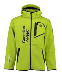 Tubis apple green contrast zip coat