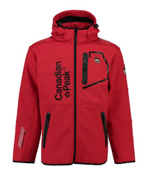 Tubis red contrast zip coat