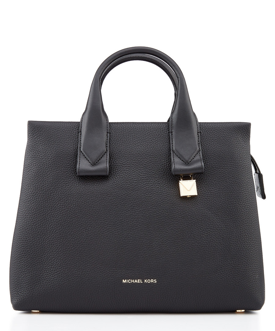 Rollins large black leather grab bag Sale - Michael Michael Kors