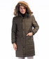 Khaki faux fur hood padded overcoat Sale - Dewberry Sale