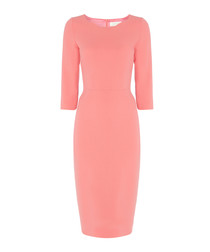 Ginger rosebud pure wool fitted dress