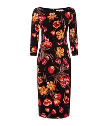 Goddess tulip print pencil dress