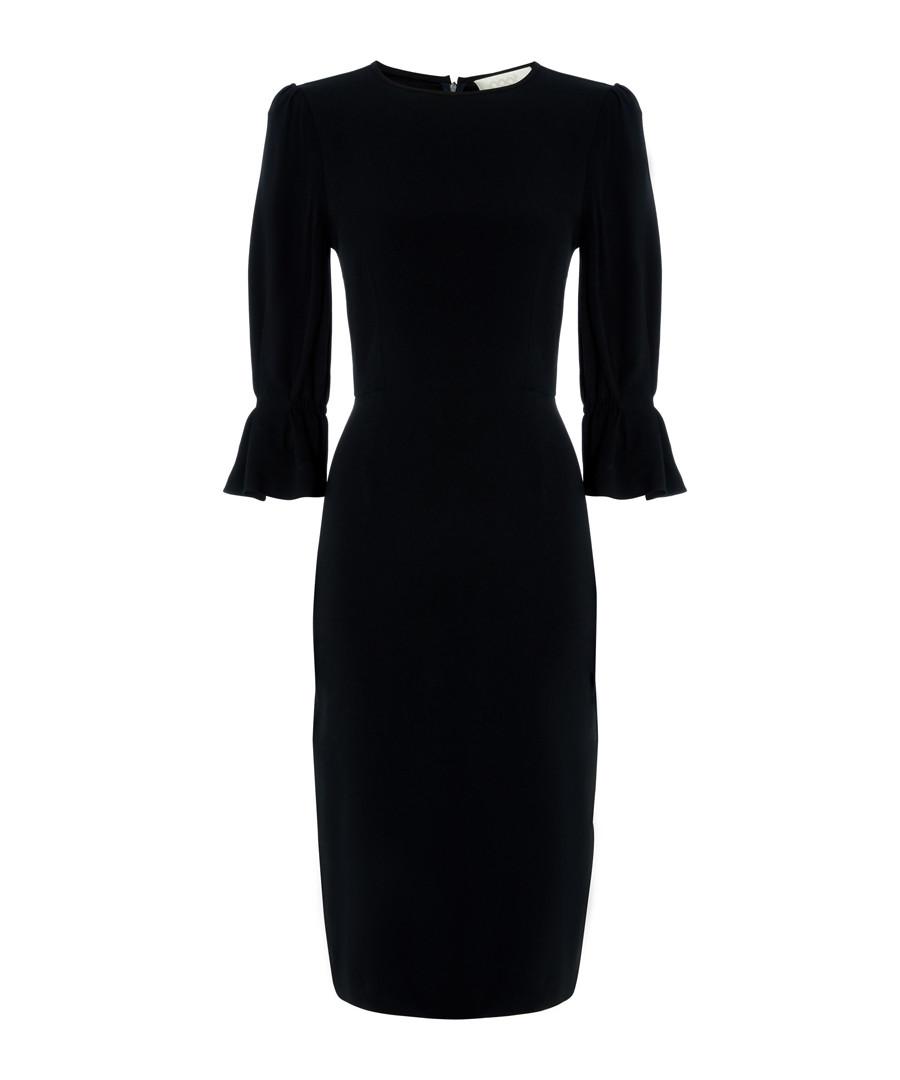 Gaynor navy flare-sleeve pencil dress Sale - Goat