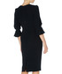 Gaynor navy flare-sleeve pencil dress Sale - Goat Sale