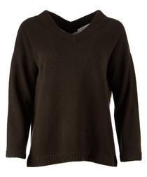 Garcon khaki pure cashmere jumper