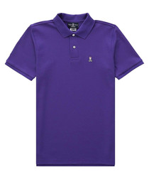 Violet pure pima cotton logo polo shirt