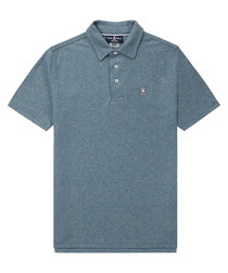 Pewter pure pima cotton logo polo shirt