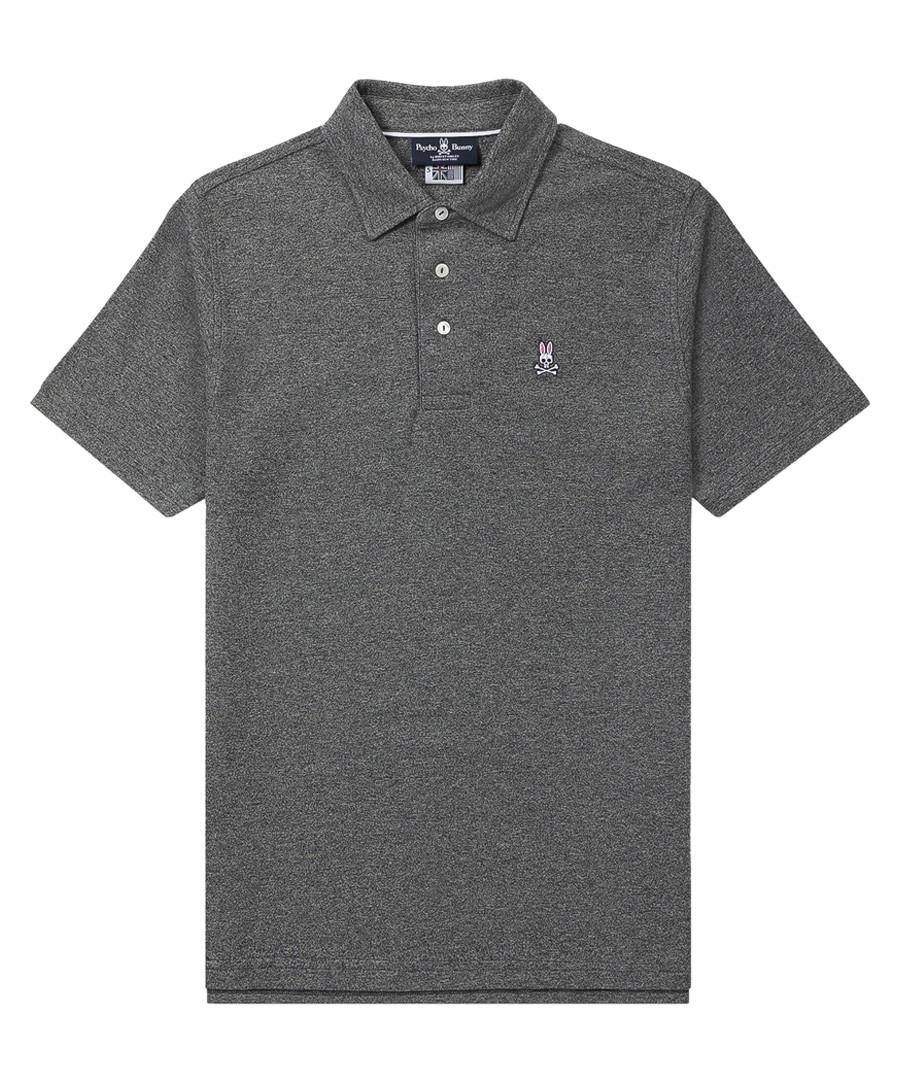 Graphite pure cotton logo polo shirt Sale - Psycho Bunny