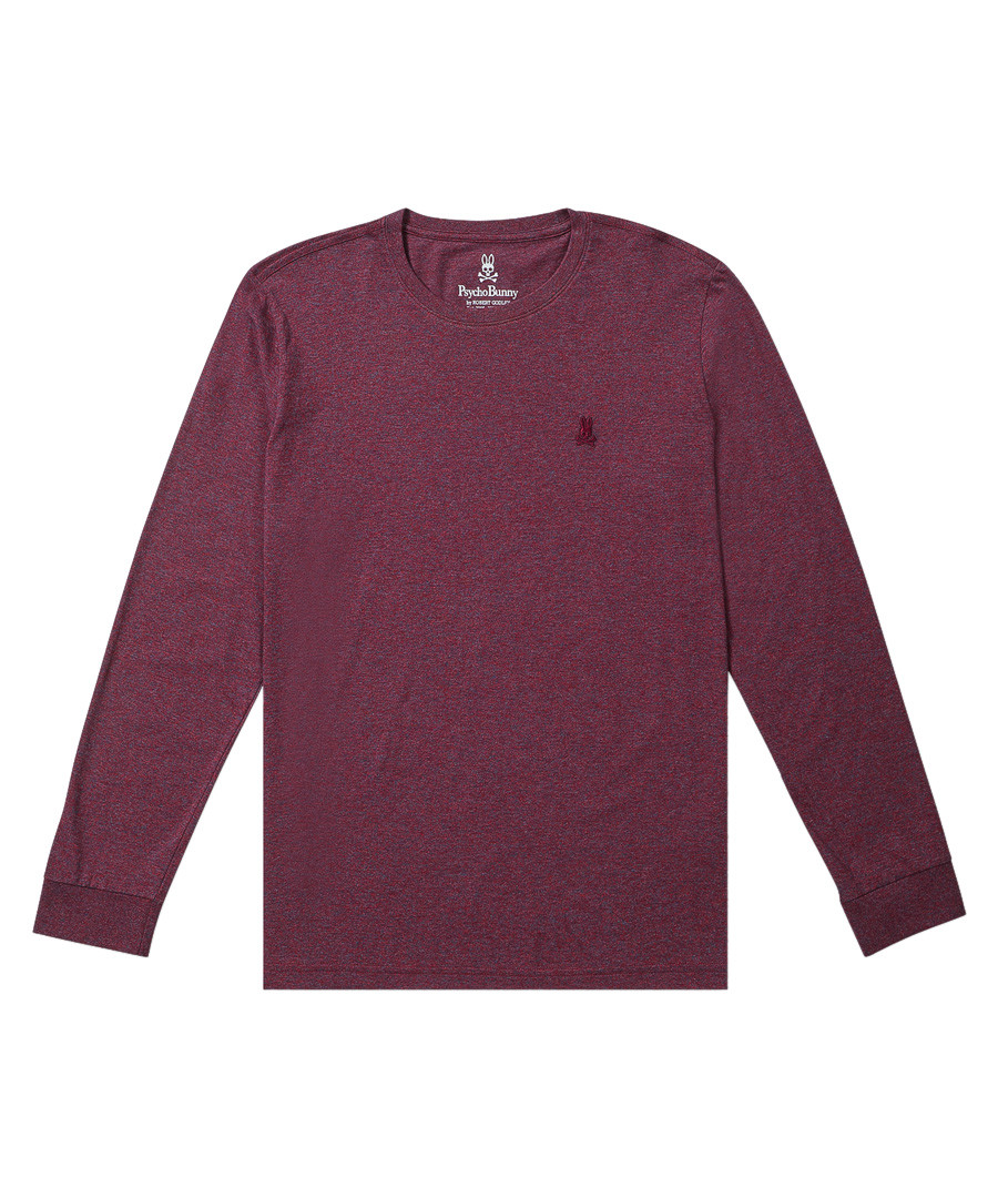 Dark red pure cotton long sleeve top Sale - Psycho Bunny