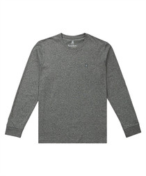 Grey pure pima cotton long sleeve top
