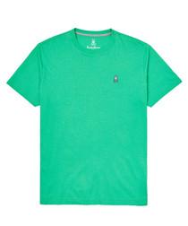 Lime pure pima cotton logo T-shirt