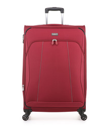 Galaxy red spinner suitcase 78cm