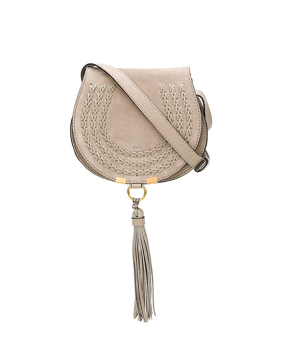 Grey suede detailed tassel crossbody bag Sale - Chloe