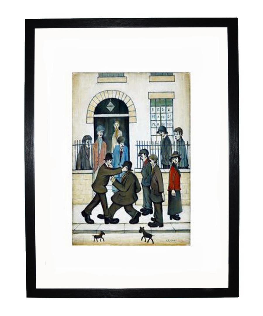 A Fight framed print 280x360mm Sale - L S Lowry