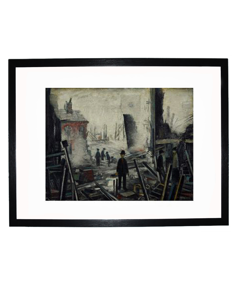 Blitzed Site framed print 280x360mm Sale - L S Lowry