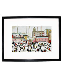 Going To Work framed print 280x360mm