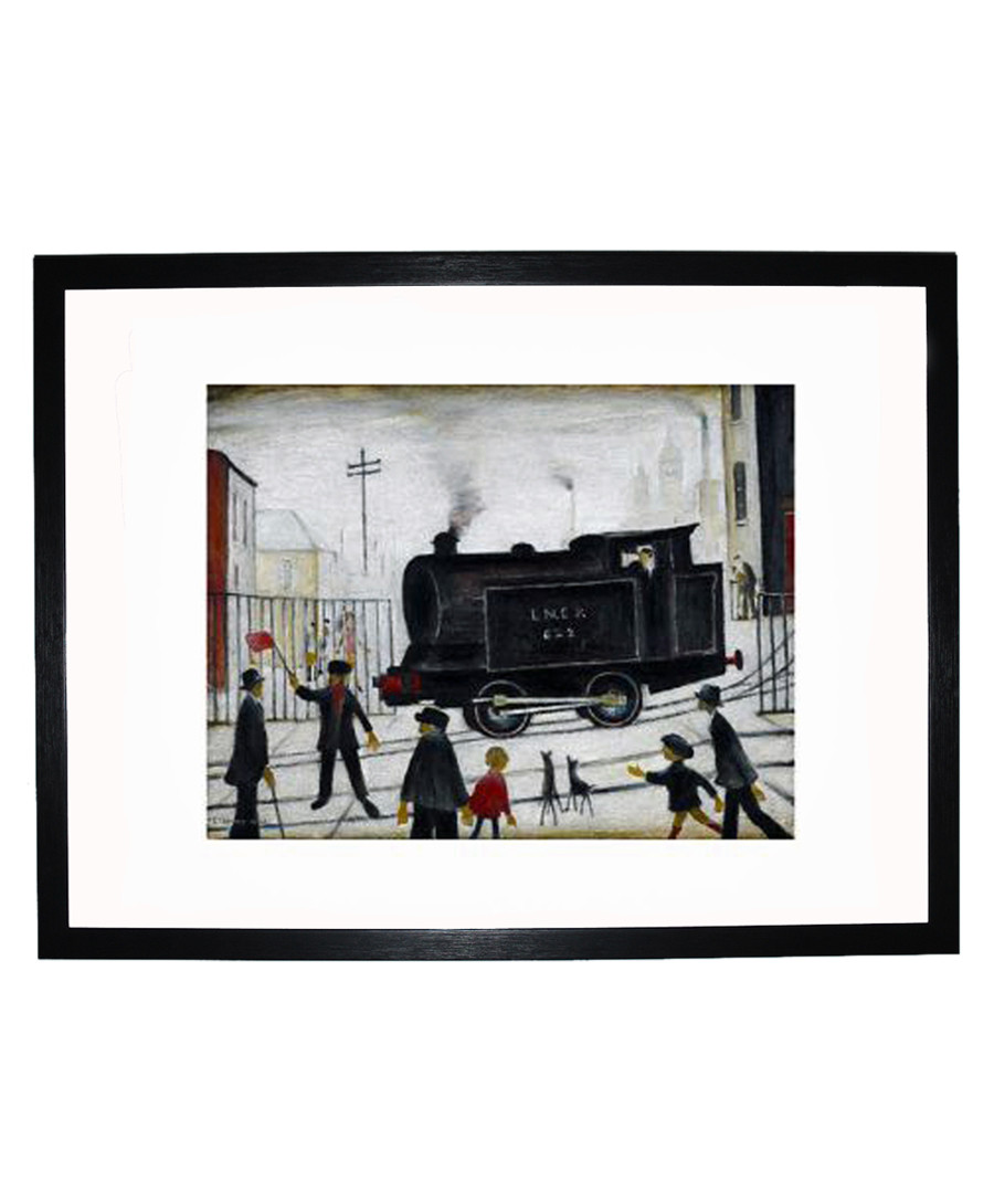 Level Crossing framed print 280x360mm Sale - L S Lowry
