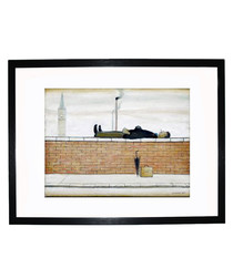 Man Lying on a Wall print 280x360mm