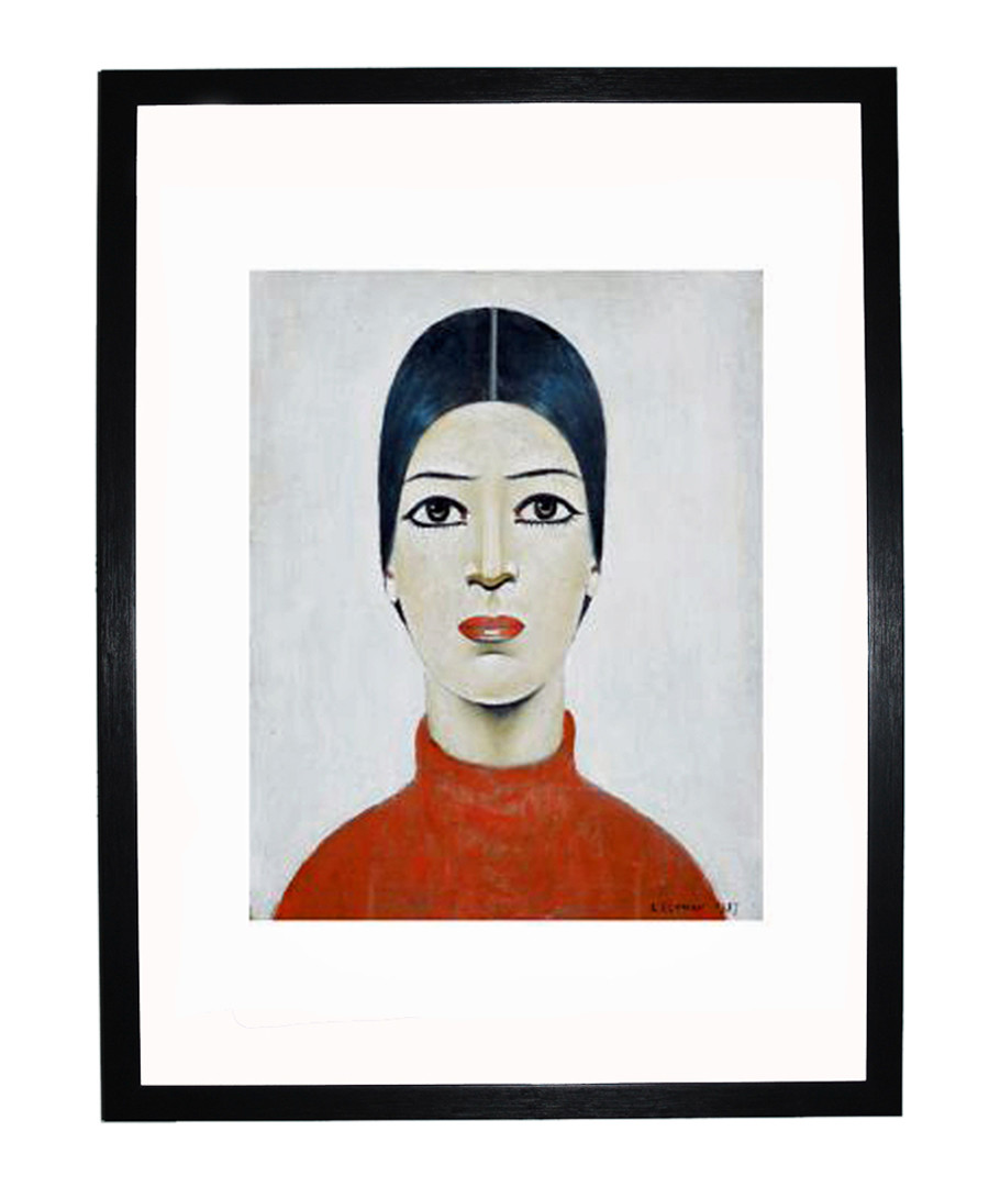 Portrait of Ann framed print 280x360mm Sale - L S Lowry