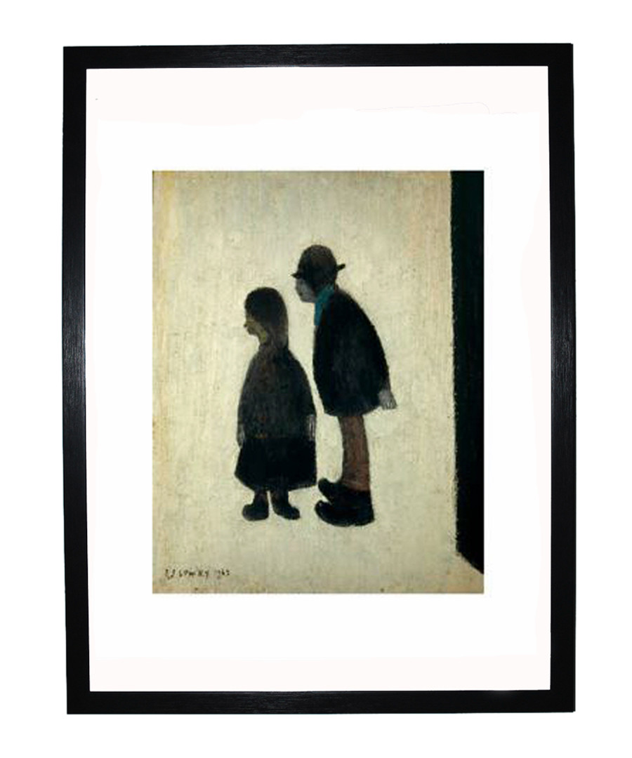 Two People framed print 280x360mm Sale - L S Lowry