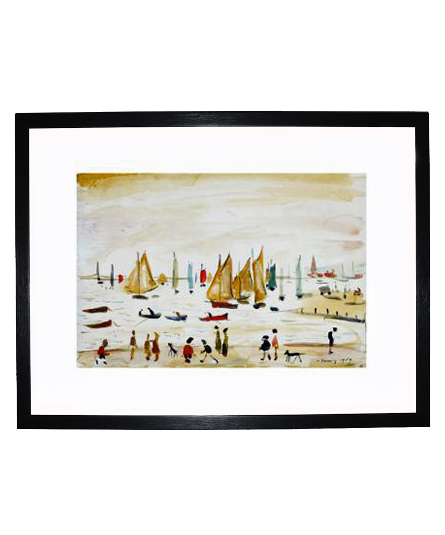 Yachts framed print 280x360mm Sale - L S Lowry