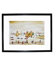 Yachts framed print 280x360mm