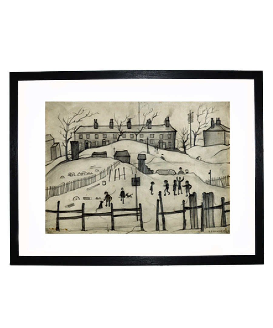 Houses In Broughton print 280x360mm Sale - L S Lowry
