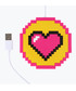 Pixelated heart USB-powered cup warmer Sale - Mustard Sale