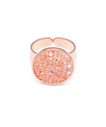 Rose gold-plated & crystal ring