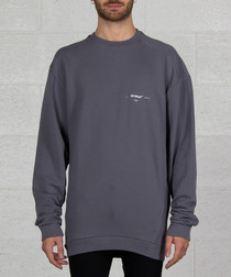 Grey pure cotton branded jumper
