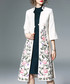White & pink floral print overcoat Sale - Zeraco Sale