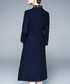 Navy high neck printed A-line midi dress Sale - Zeraco Sale