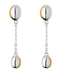 Yellow gold vermeil & silver earrings