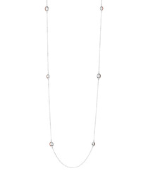 Sterling silver masquarade oval necklace