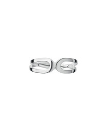 Sterling silver abstract bow ring
