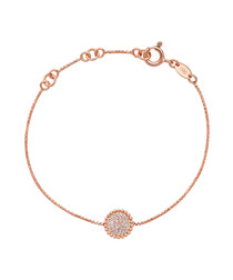 Rose gold-plated round bracelet