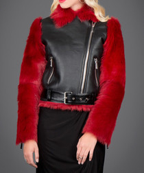 Black & red contrast toscana jacket