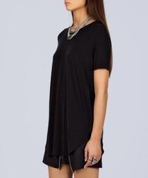 Black pure cotton shift mini dress
