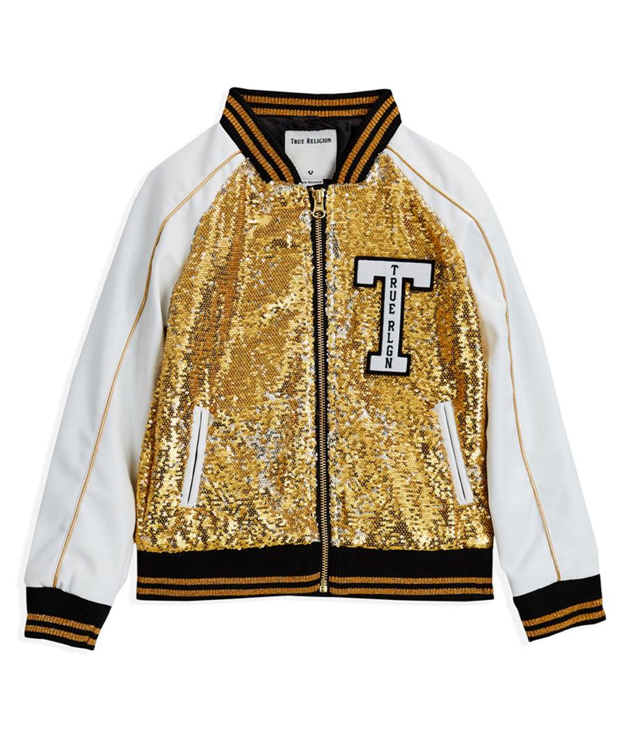 Gold-tone sequin logo bomber jacket Sale - true religion