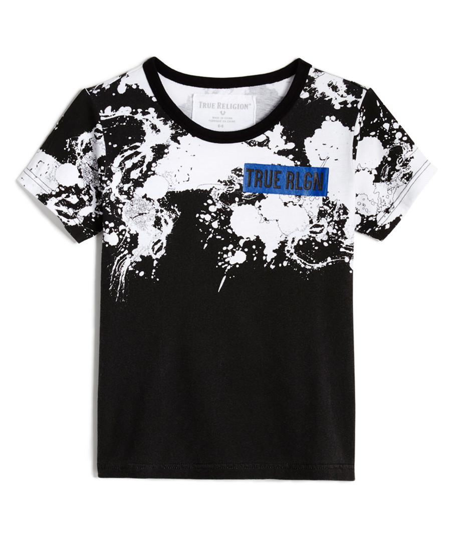 Black paint splatter print cotton top Sale - TRUE RELIGION