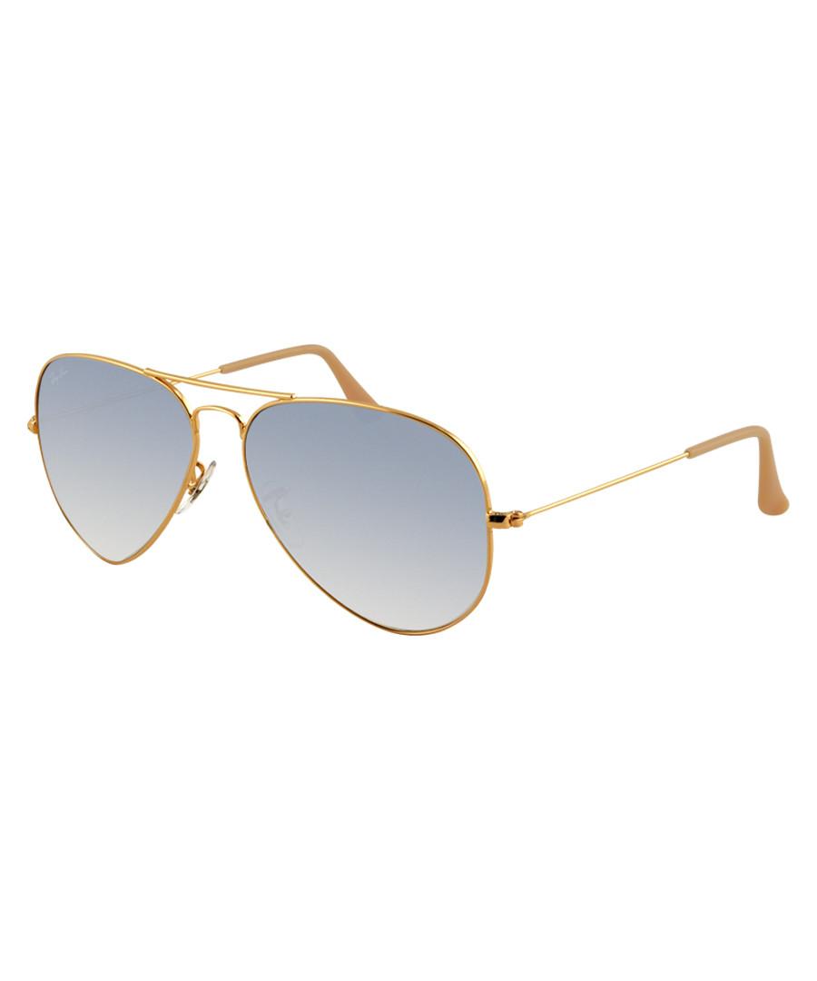 Gold-tone & blue aviator sunglasses Sale - Ray Ban