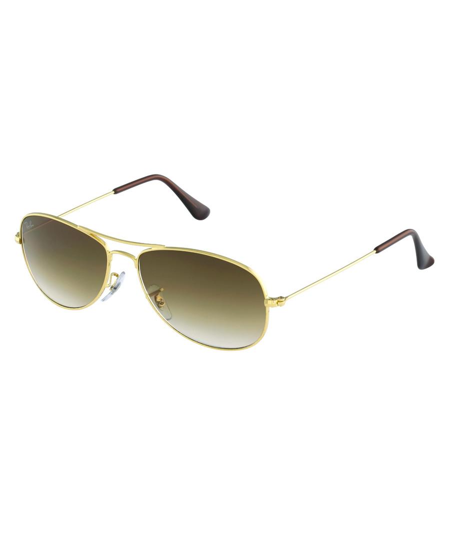 d87df332222 Cockpit gold-tone   brown sunglasses Sale - Ray Ban