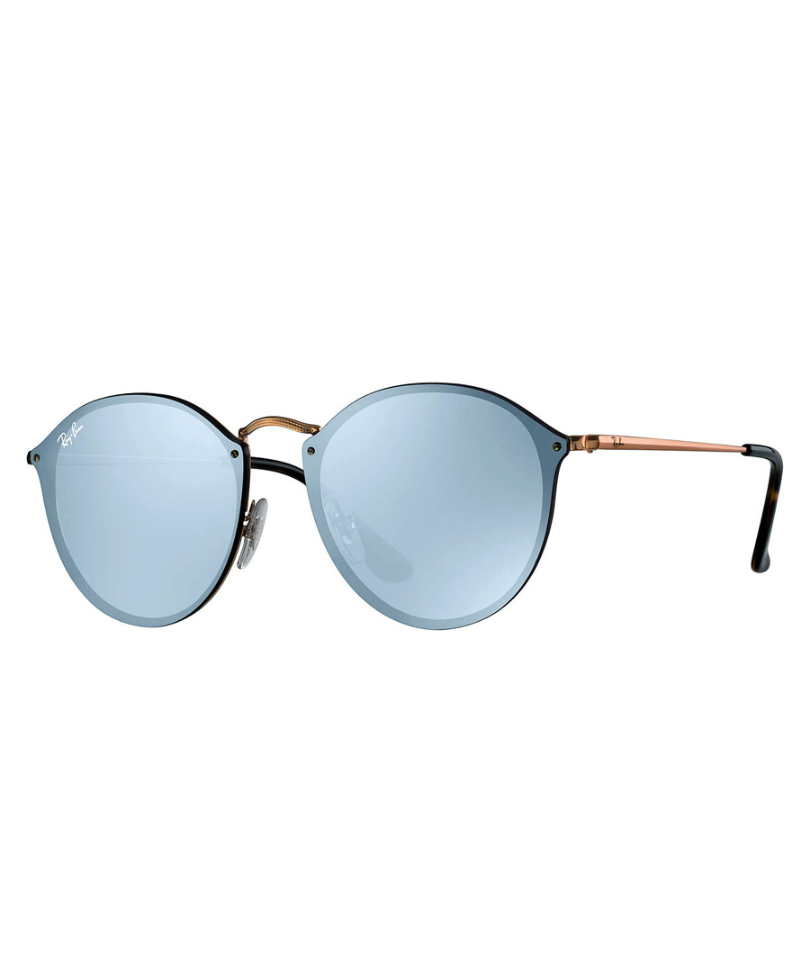 Blaze round violet mirrored sunglasses Sale - ray-ban
