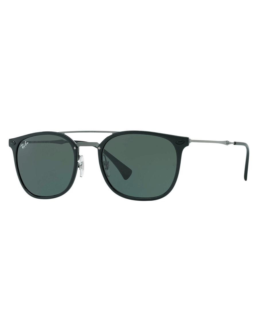 Double-ridge black & green sunglasses Sale - ray-ban