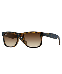 Justin matte brown shaded sunglasses